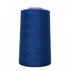 Cone de fil à coudre bleu France 4 573 m 100% polyester - Couture loisirs