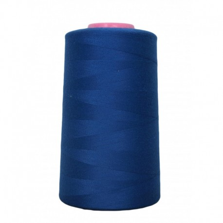 Cone of thread sewing blue France 4 573 m 100% polyester - sewing hobbies