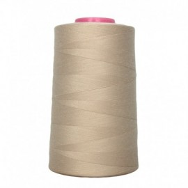 Cone of sewing thread light beige 4 573 m 100% polyester - sewing hobbies