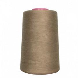Cone de fil à coudre beige 4 573 m 100% polyester - Couture loisirs