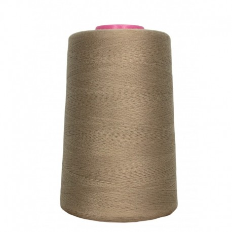 Cone of sewing thread beige 4 573 m 100% polyester - sewing hobbies