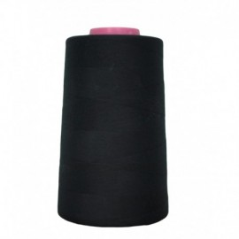 Cone of thread Black 4 573 m 100% polyester - sewing hobbies