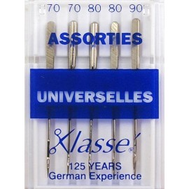 Aiguilles machine universelles assorties - Couture loisirs