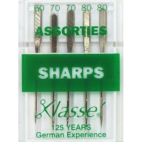 Aiguilles machine sharps assorties - Couture loisirs
