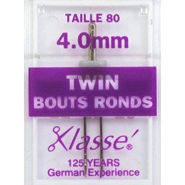 Aiguilles machine double bouts ronds 80 - 4mm - Couture loisirs