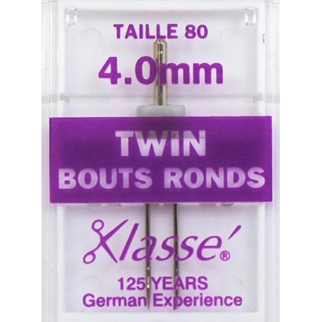 Aiguilles machine double bouts ronds 80 - 4mm - Couture loisirs
