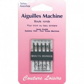 Aiguilles machine bouts ronds assorties X5 - Couture loisirs