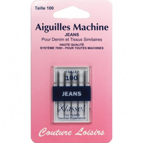 Jeans X 5 - 100/16 - leisure sewing machine needles