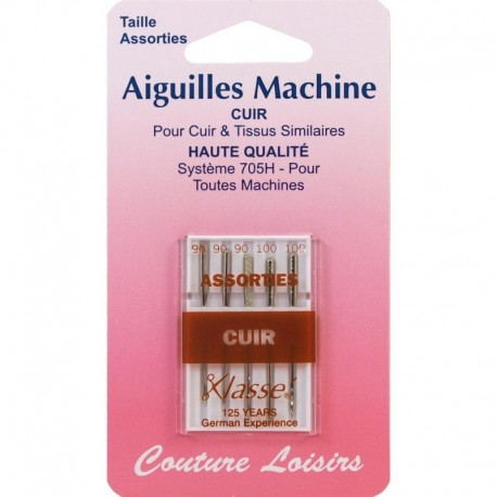 Assorted leather X 5 - leisure sewing machine needles
