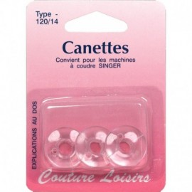 Canettes Singer plastique - type 66 X3 - Couture loisirs