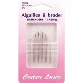 Needles to embroider with no. 3 to 9 X 16 - sewing hobbies