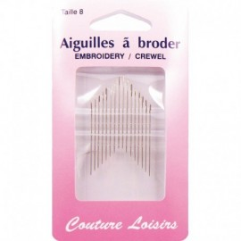 Needles to embroider n ° 8 X 16 - sewing hobbies