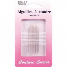 Needles n ° 3-9 X 10 - sewing hobbies assorted Milliner
