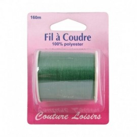 Bobine fil polyester 160m Vert - Couture loisirs