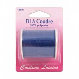 Bobine fil polyester 160m Marine - Couture loisirs