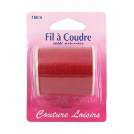 Bobine fil polyester 160m Rouge - Couture loisirs