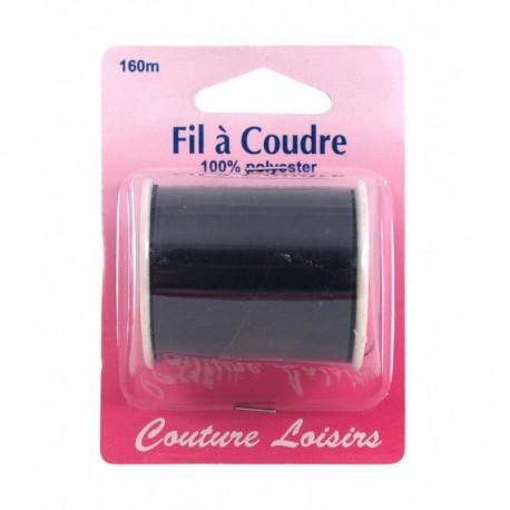 Bobine fil polyester 160m Noir - Couture loisirs