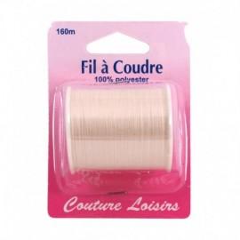 Bobine fil polyester 160m Ecru - Couture loisirs