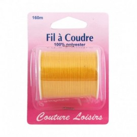 Coil wire polyester 160 m yellow - sewing hobbies