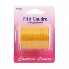 Bobine fil polyester 160m Jaune - Couture loisirs
