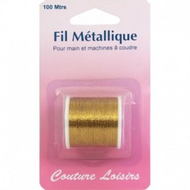 Coil wire metal gold - 100 m (hand / machine - sewing hobbies)