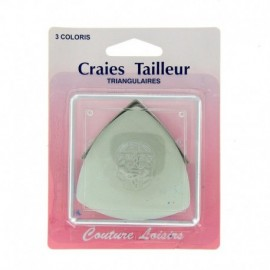Craies tailleur triangulaires 3 couleurs - Couture loisirs