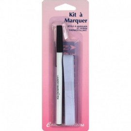 Kit à marquer ( ruban + stylo ) - Couture loisirs