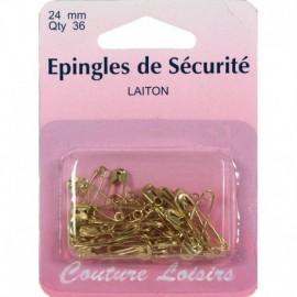 Epingles de sécurité laiton n°0 X36 - 24 mm - Couture loisirs
