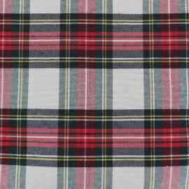 Tissu toile de coton Petit Écossais - écru x 10cm