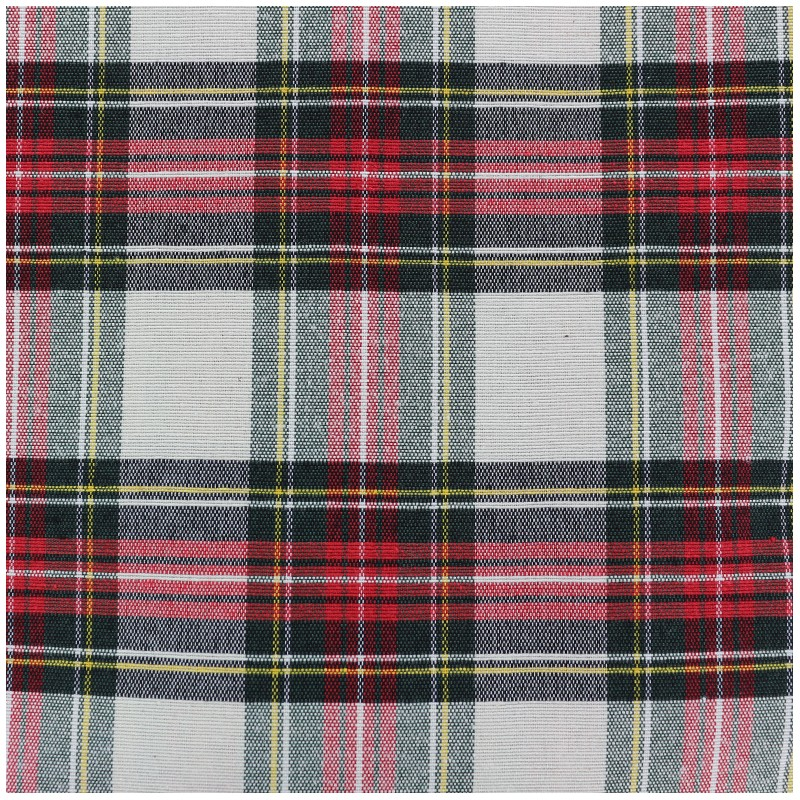 Tissu toile de coton petit cossais cru x 10cm - Toile de coton synonyme ...