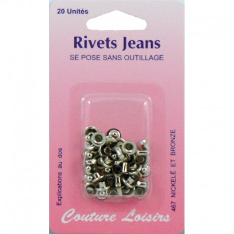 Rivets jeans color plated X 20 - sewing hobbies