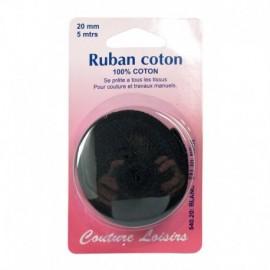 Ruban de coton noir 20 mm long. 5 m - Couture loisirs