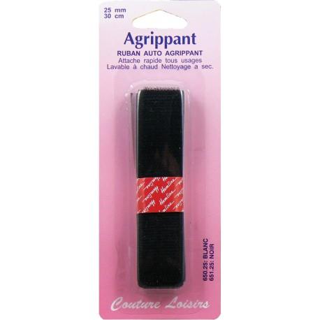 Ruban à coudre 25 mm noir - long.30 cm - Couture loisirs
