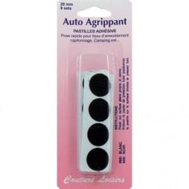 Pastilles adhésives auto agrippante noires 20 mm X8 - Couture loisirs