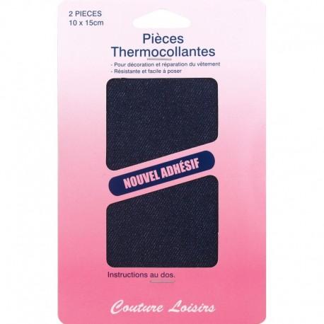 Pièces coton thermocol. couleur jeans foncé X2 - Couture loisirs