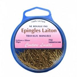 Epingles trav. manuels laiton ±450 25g- 20x0,65mm - Couture loisirs