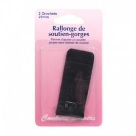 Rallonge de soutien-gorges - 28 mm - noir - Couture loisirs