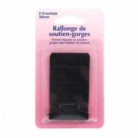 Rallonge de soutien-gorges - 38 mm - noir - Couture loisirs