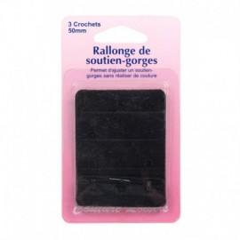 Rallonge de soutien-gorges - 50 mm - noir - Couture loisirs
