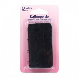 Rallonge de soutien-gorges - 75 mm - noir - Couture loisirs