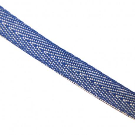 Ruban Sergé Denim bleu électrique