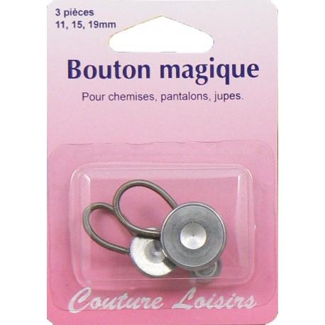 Boutons magiques métal X3 assort. 11, 15 et 19 mm - Couture loisirs