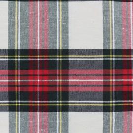 Tissu toile de coton Grand Écossais - écru x 15cm