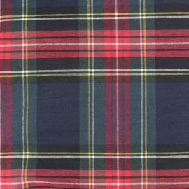 Tissu toile de coton Grand Écossais - vert x 15cm