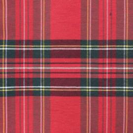 Tissu toile de coton Grand Écossais grande largeur (280cm) - rouge x 15cm
