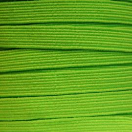 Flat elastic 6 mm - Fluorescent green