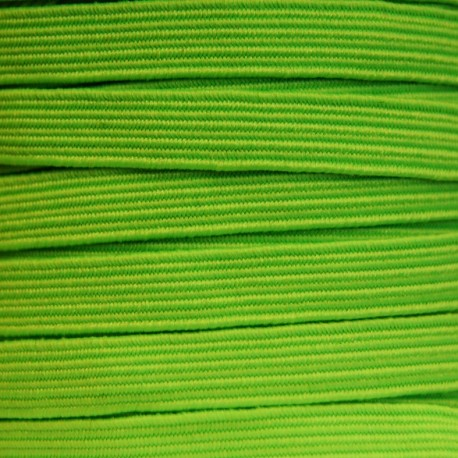 Flat elastic 8mm - Fluorescent green