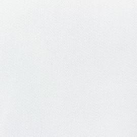 ♥ Coupon 100 cm X 320 cm ♥  Tissu toile polyester Duna grande largeur -  blanc