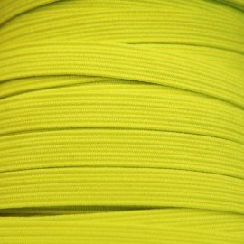Flat elastic 8mm - Fluorescent yellow
