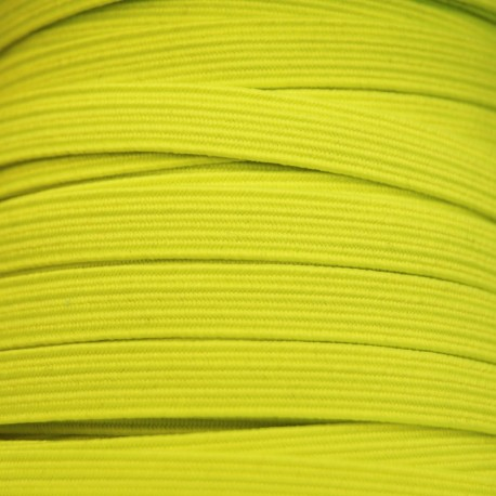 Flat elastic 8mm - Fluorescent yellow